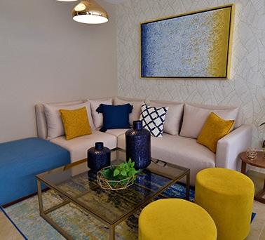 Foto de sala de casa modelo Galia en Lenna Residencial, en Zákia, Querétaro.