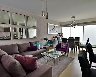 Sala comedor de casa modelo Lenor II en Lenna Residencial.